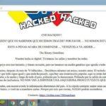 Hackers dejan un mensaje claro tras ataque a la página del CNE