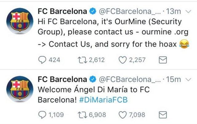 El Barcelona Fútbol Club es Víctima de un Hackeo
